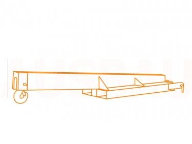 Forklift crane jib AUSBAU-KS