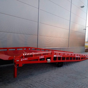 Loading ramp for a logistic company in France