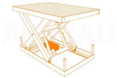 Tabela e ngritjes me gërshërë AUSBAU-SL (hydraulic scissor lift)