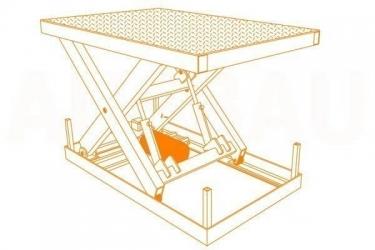 Scissor lift table AUSBAU-SL (hydraulic scissor lift)