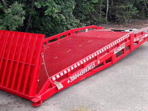 Small mobile ramp for a client in Latvia