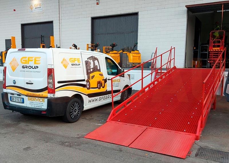 Fixed loading ramp AUSBAU-ST
