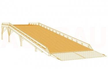 Stationäre Rampe für LKW mit horizontalen Plattform AUSBAU-STB