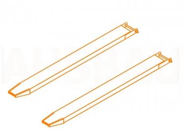 Forklift fork extensions AUSBAU-UV