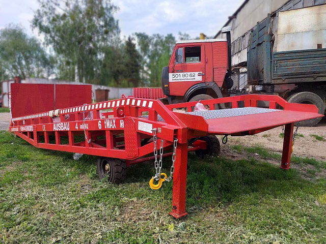 Special wheels for the AUSBAU mobile ramp with a capacity of 6 tons