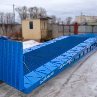 Loading ramp according to individual dimensions for the customer in the Czech Republic
