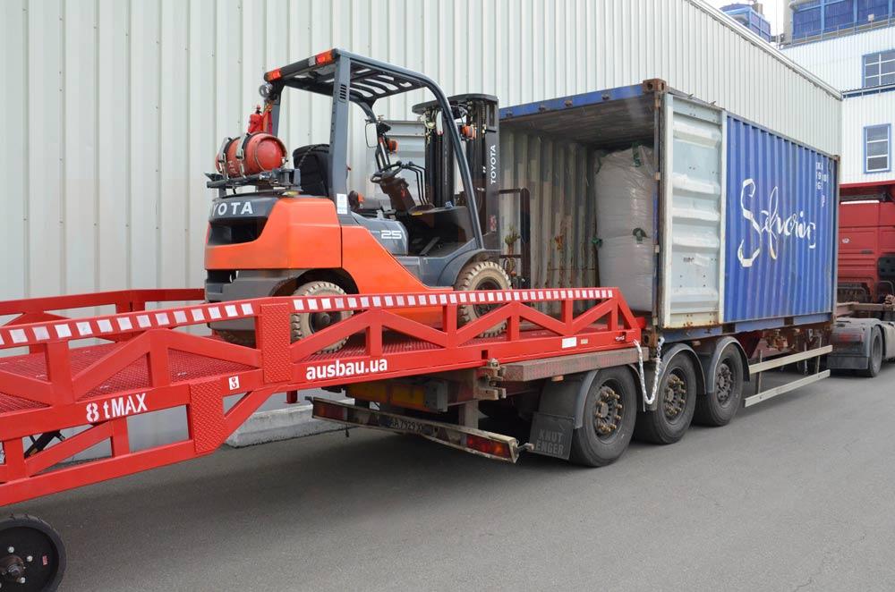 Heavy duty container loading ramp AUSBAU