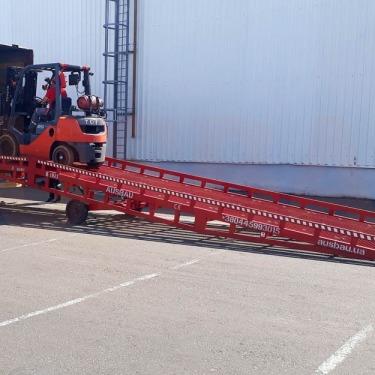 Използвани мобилна товарна рампа AUSBAU