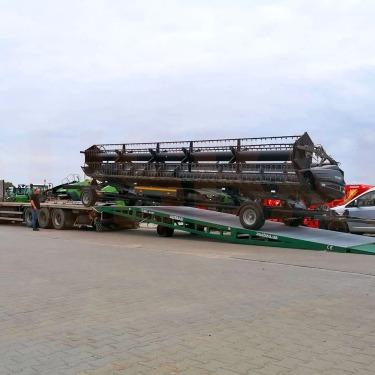 Rampe mobile pour le transport encombrant et lourd vers la Pologne