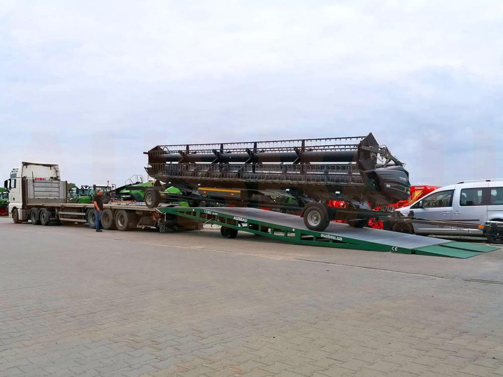 Rampa mobile per trasporti ingombranti e pesanti in Polonia